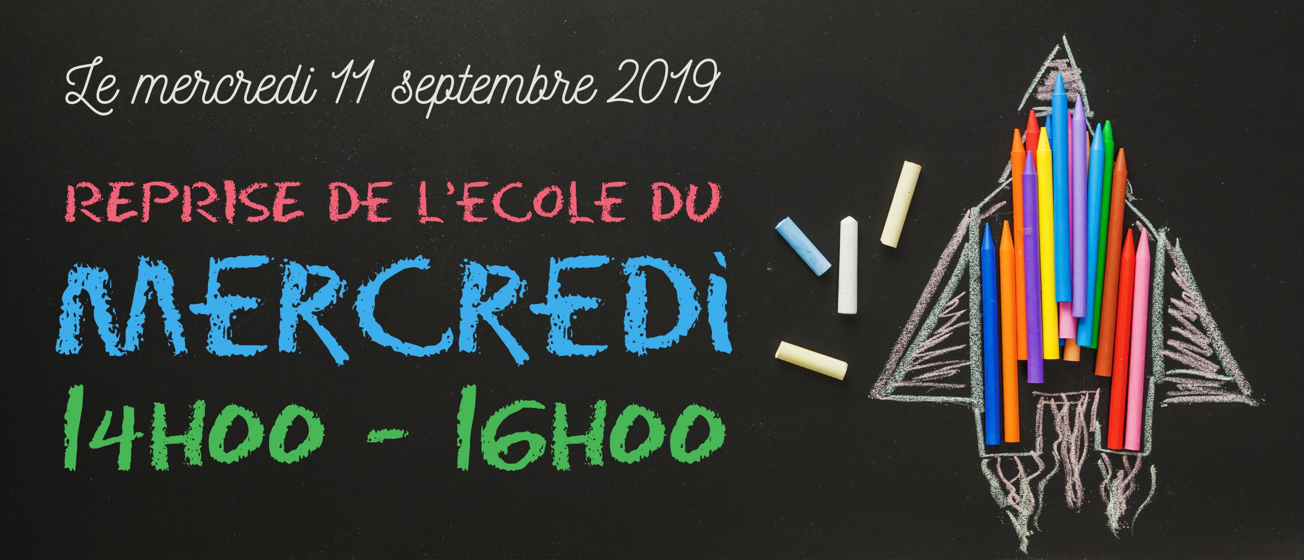 Reprise école du mercredi 11 septembre 2019